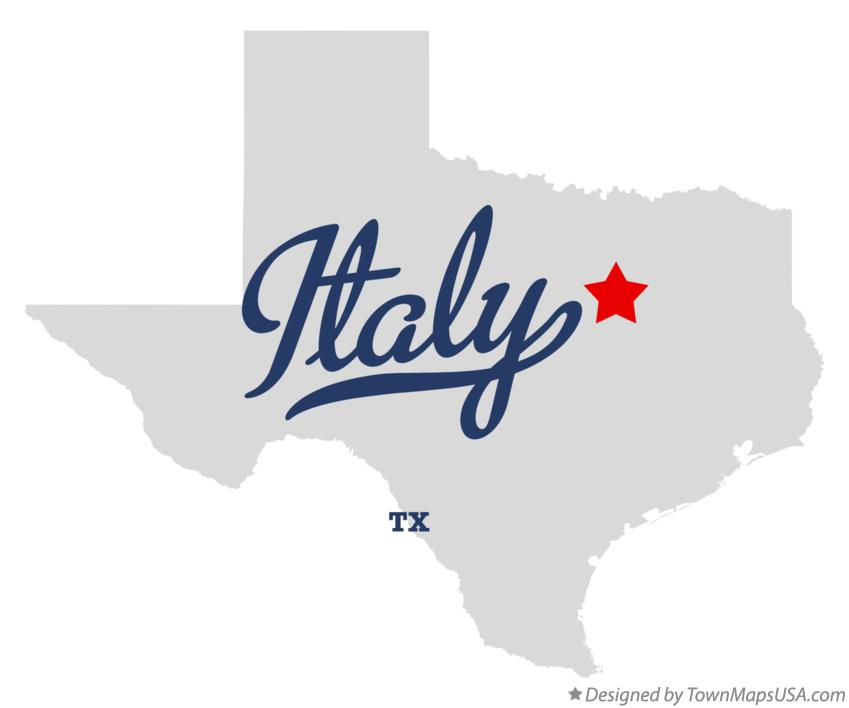 Map of Italy Texas TX