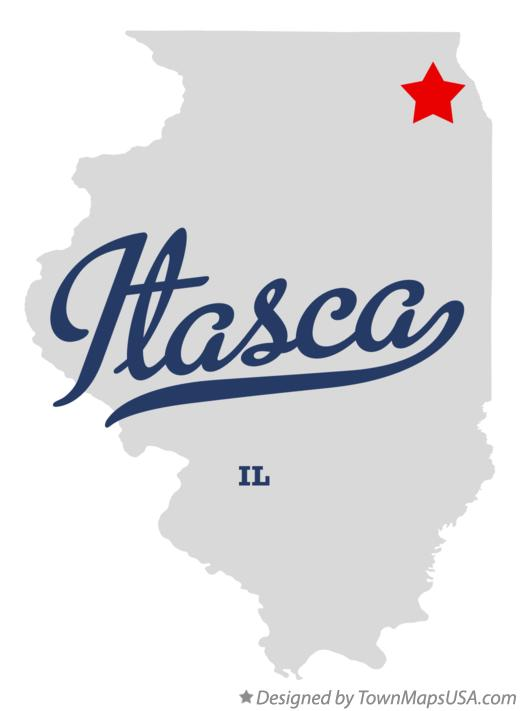 Map of Itasca Illinois IL