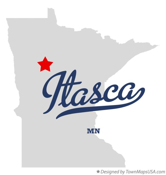 Map of Itasca Minnesota MN