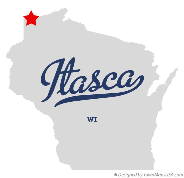 Map of Itasca Wisconsin WI