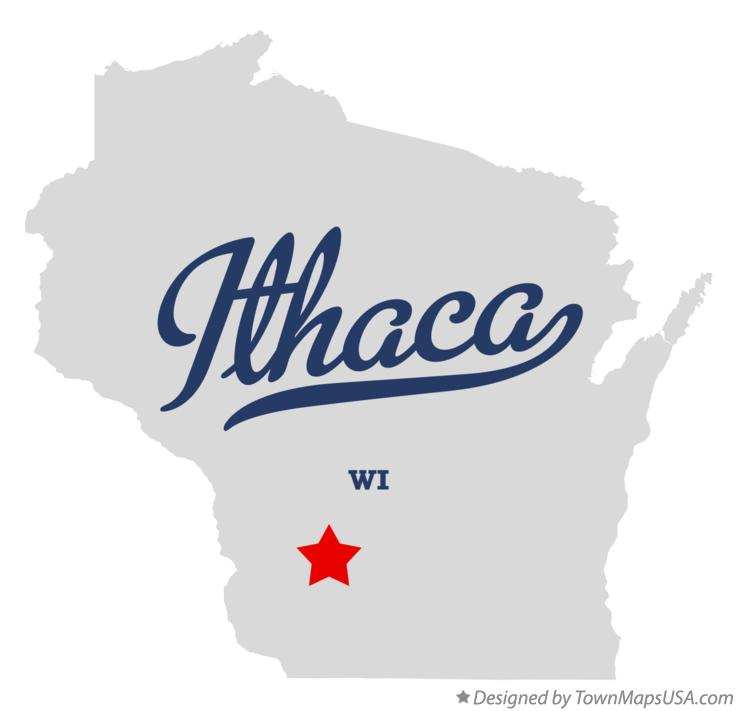 Map of Ithaca Wisconsin WI