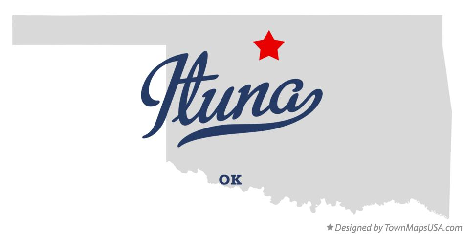 Map of Ituna Oklahoma OK