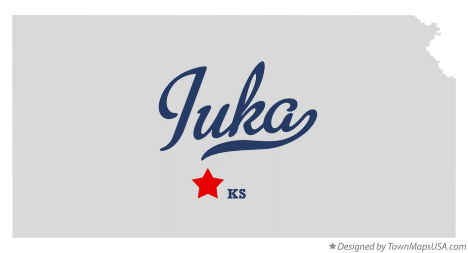Map of Iuka Kansas KS