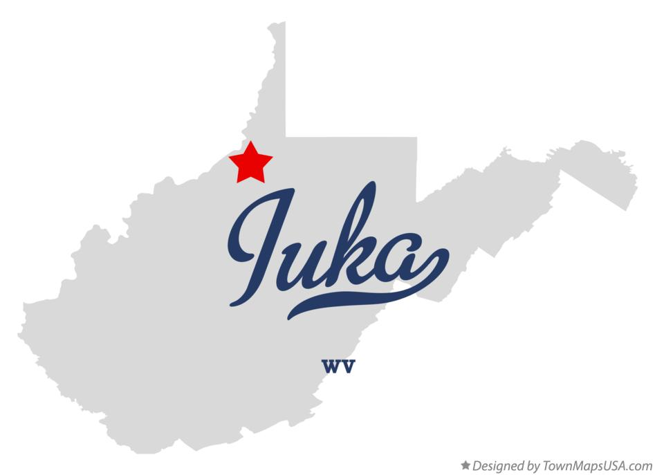 Map of Iuka West Virginia WV