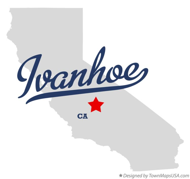 Map of Ivanhoe California CA