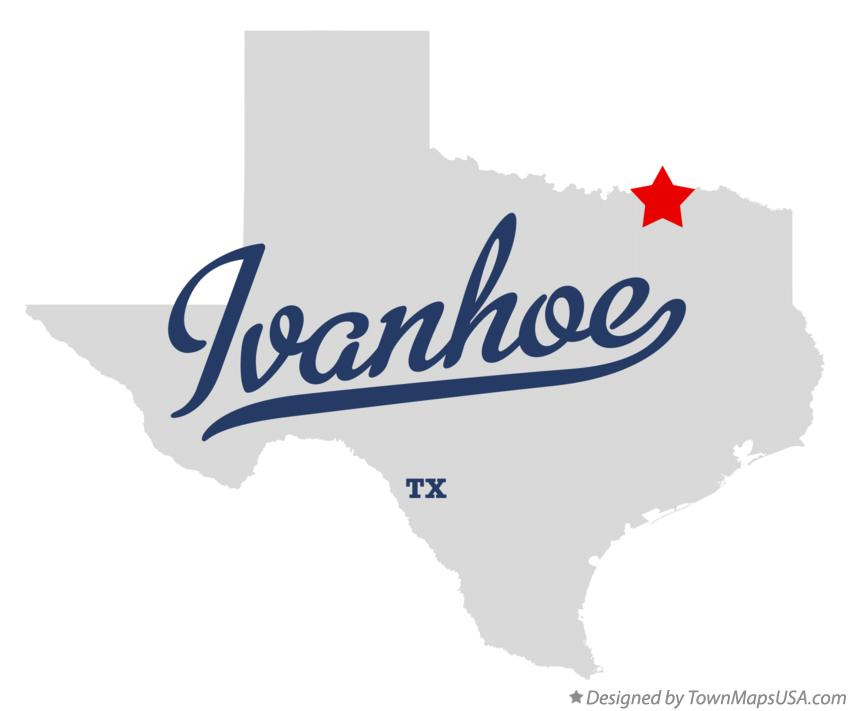 Map of Ivanhoe Texas TX