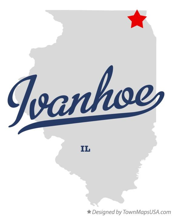 Map of Ivanhoe Illinois IL