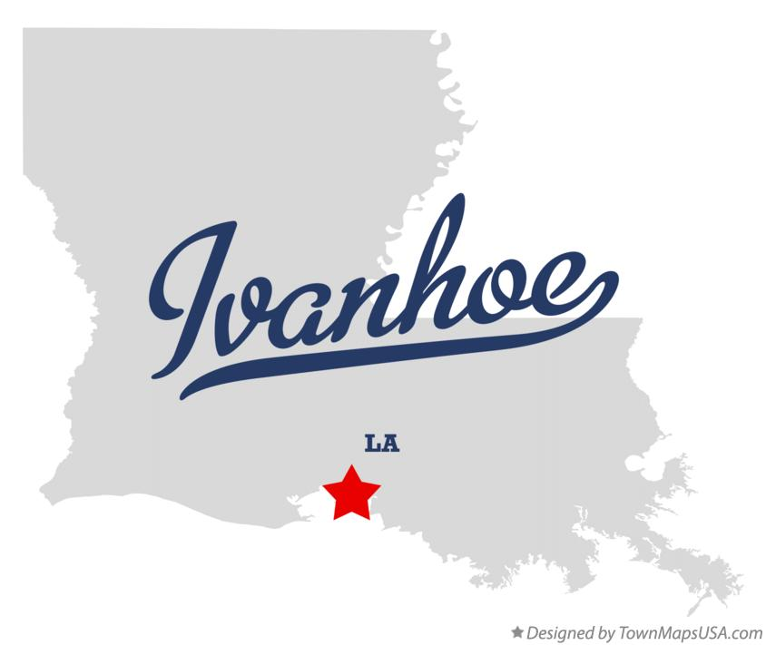 Map of Ivanhoe Louisiana LA