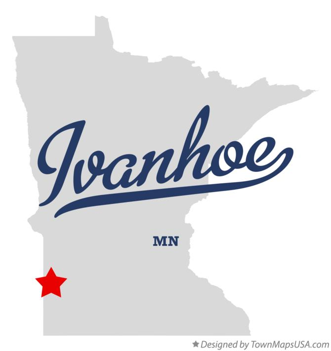 Map of Ivanhoe Minnesota MN