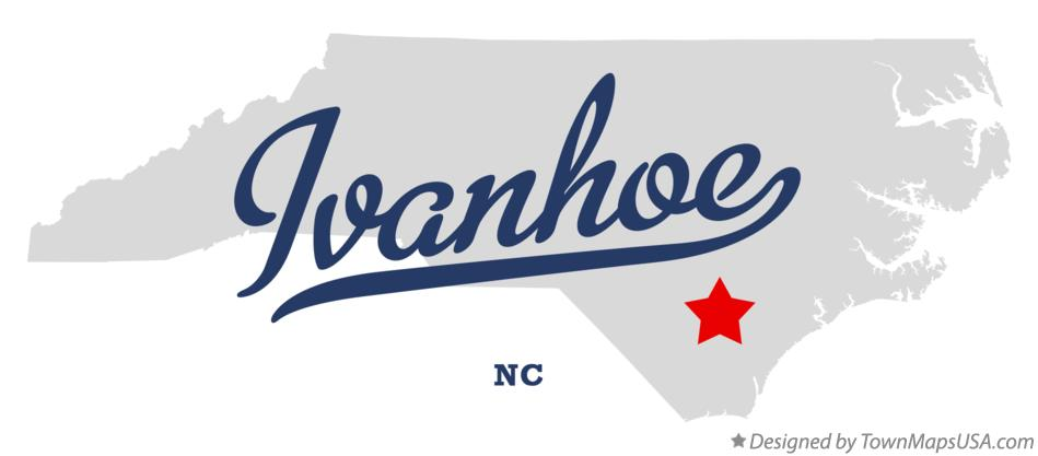 Map of Ivanhoe North Carolina NC