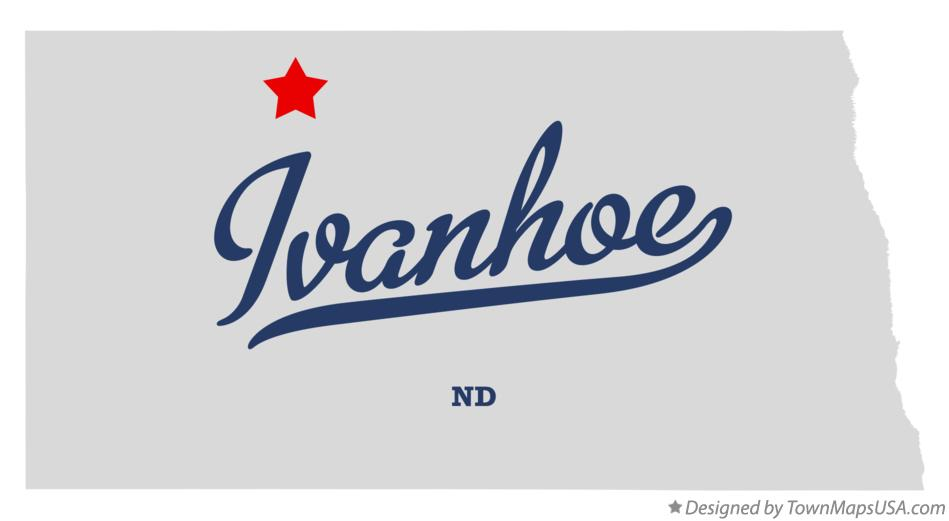 Map of Ivanhoe North Dakota ND