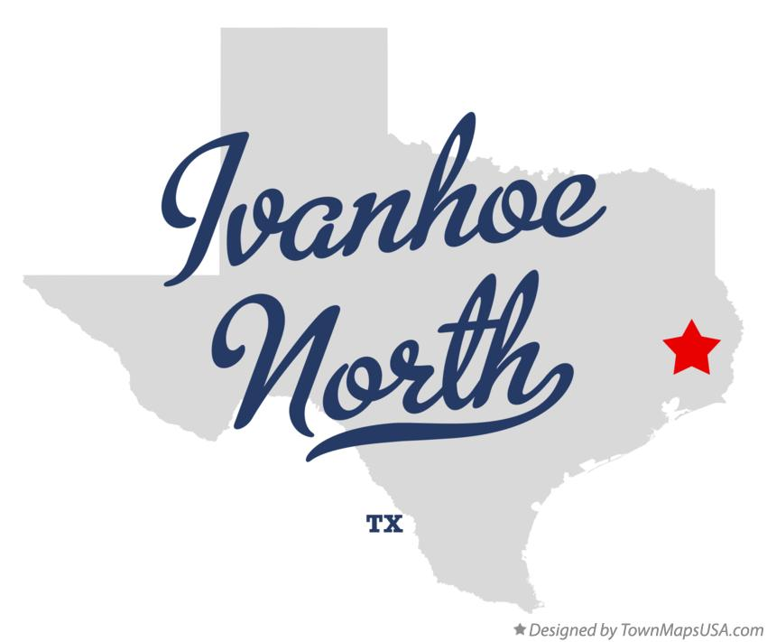 Map of Ivanhoe North Texas TX
