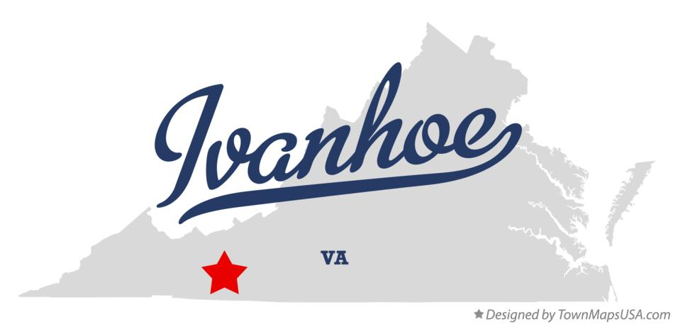 Map of Ivanhoe Virginia VA