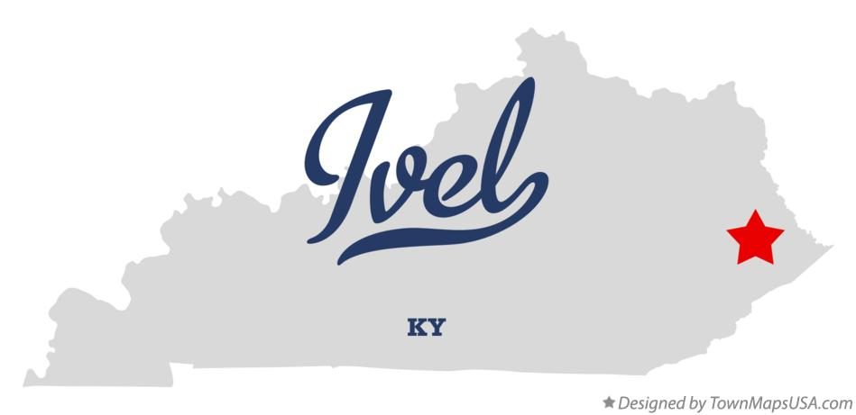 Map of Ivel Kentucky KY