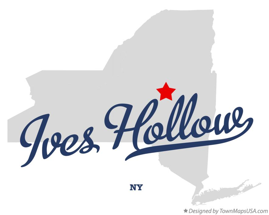 Map of Ives Hollow New York NY