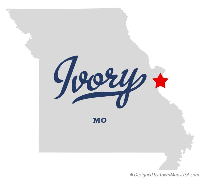 Map of Ivory Missouri MO
