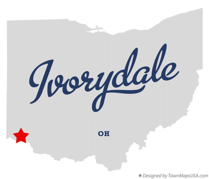 Map of Ivorydale Ohio OH