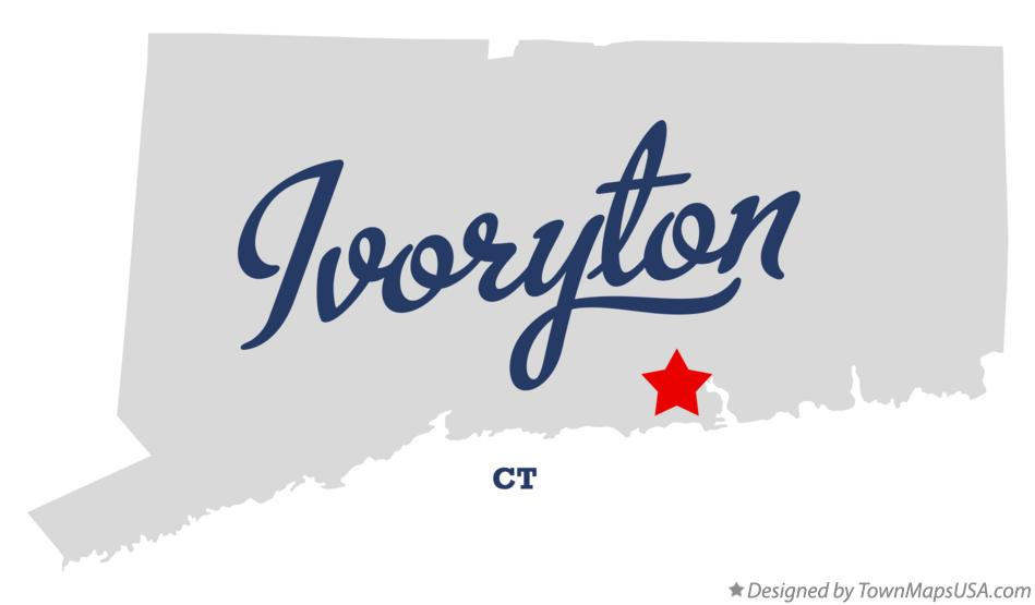 Map of Ivoryton Connecticut CT