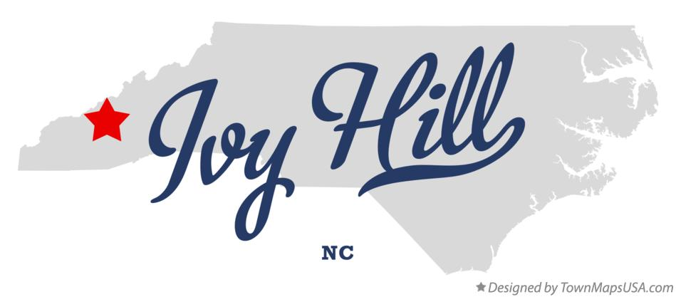 Map of Ivy Hill North Carolina NC