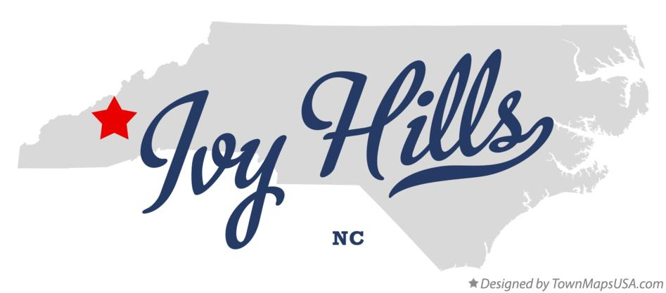 Map of Ivy Hills North Carolina NC