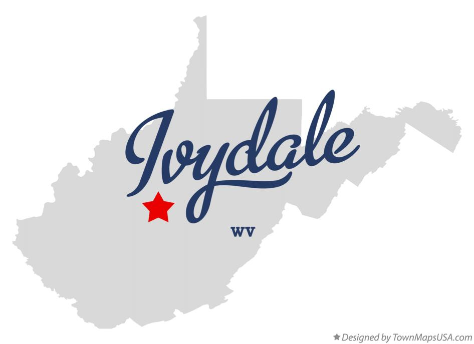 Map of ivydale clay county wv west virginia map of ivydale west virginia wv publicscrutiny Choice Image