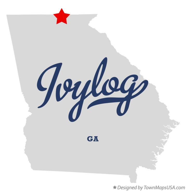 Map of Ivylog Georgia GA