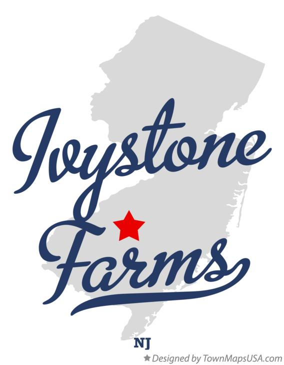Map of Ivystone Farms New Jersey NJ