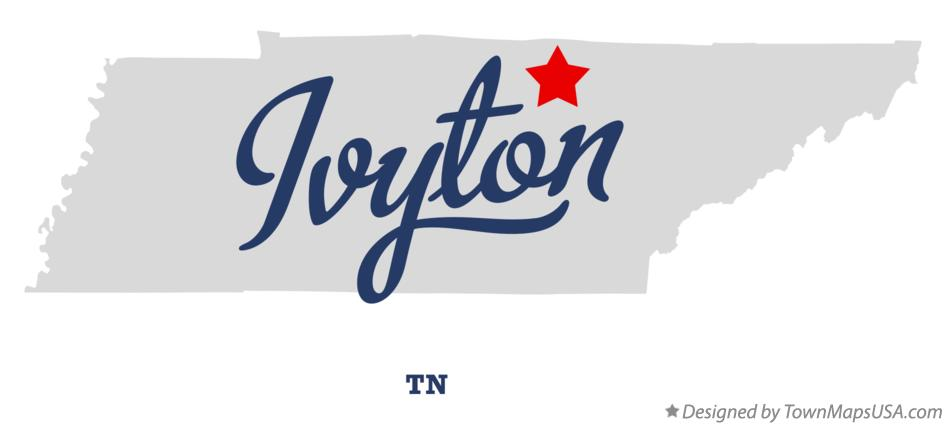 Map of Ivyton Tennessee TN
