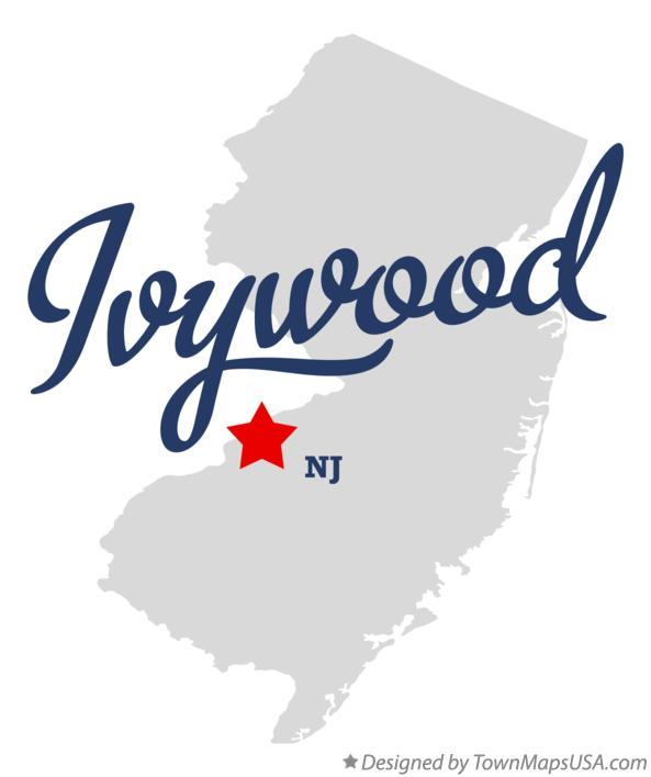 Map of Ivywood New Jersey NJ