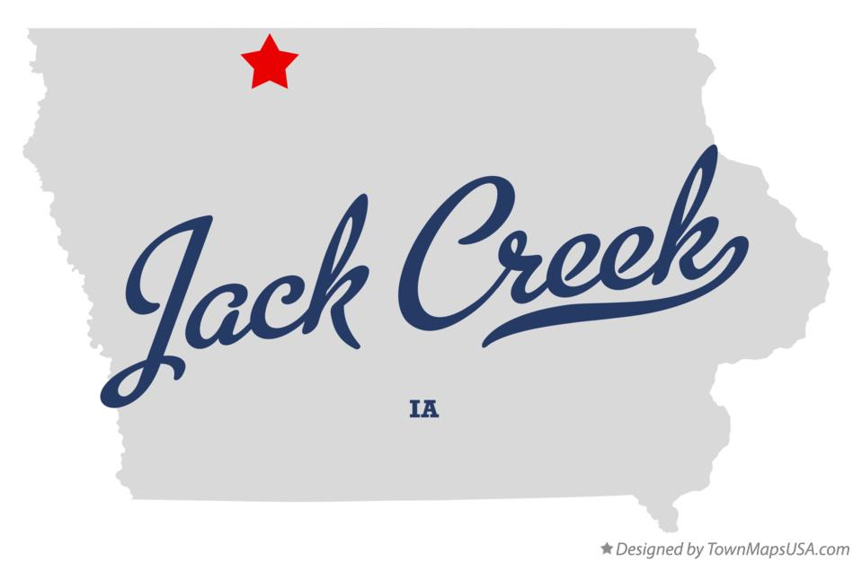 Map of Jack Creek Iowa IA