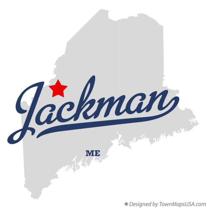 Map of Jackman Maine ME