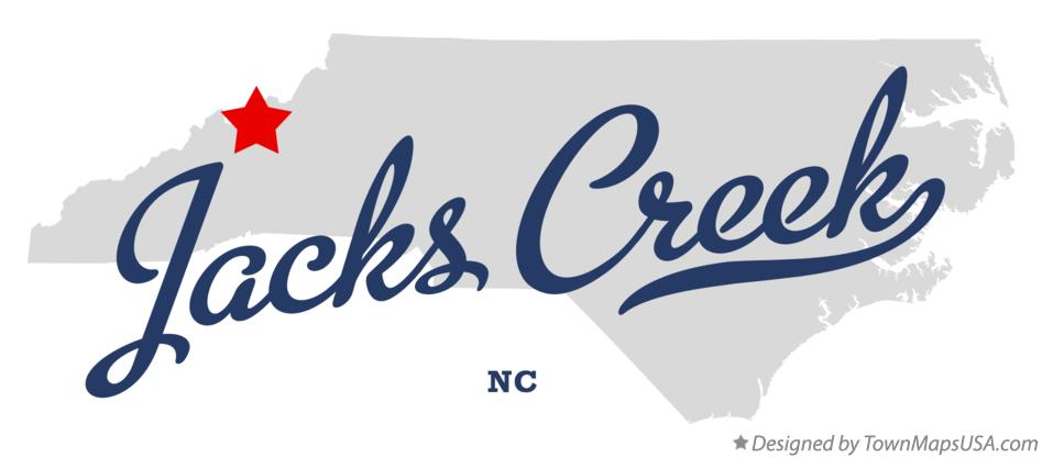 Map of Jacks Creek North Carolina NC