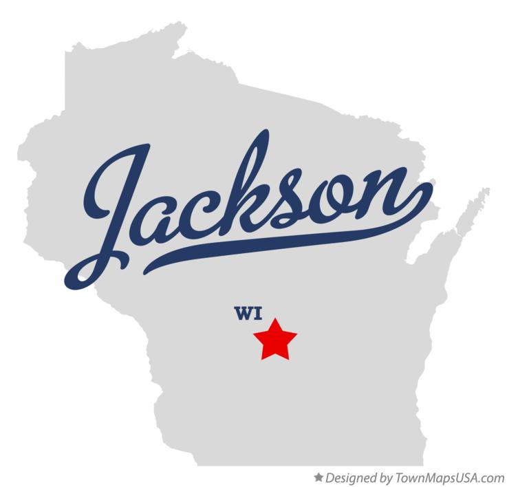 Map of Jackson Wisconsin WI