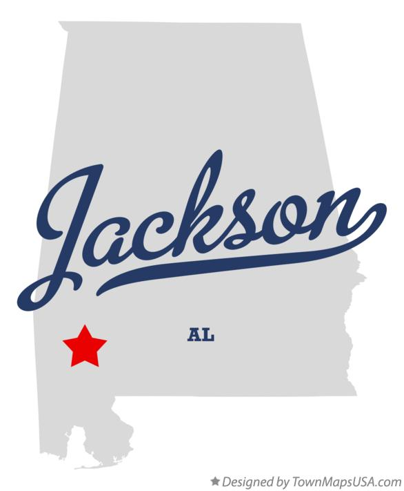 Map of Jackson Alabama AL