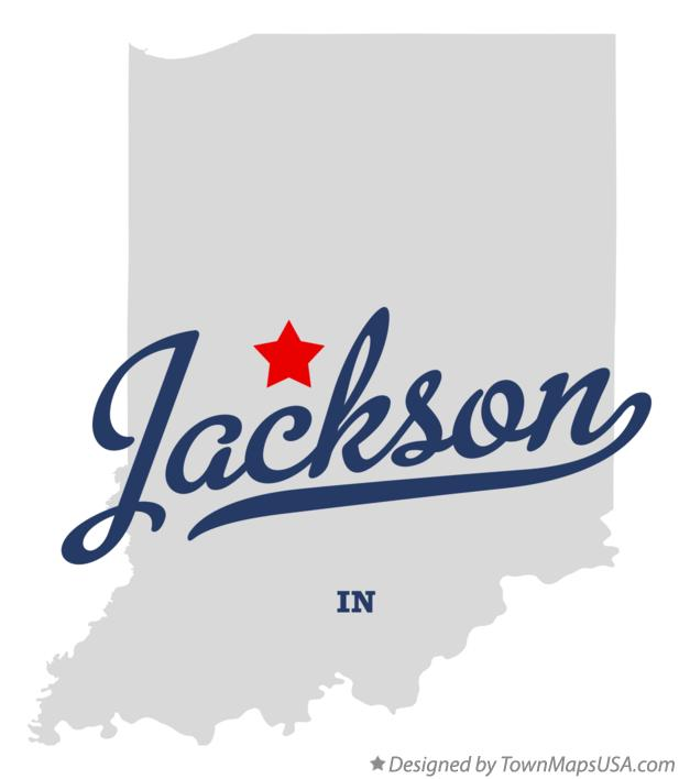 Map of Jackson Indiana IN