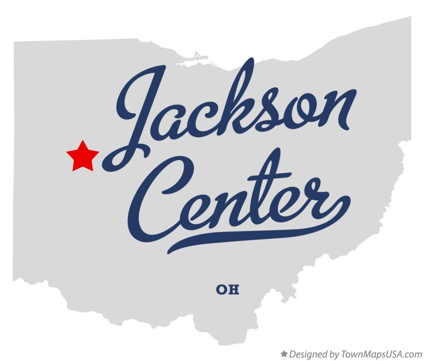 Map of Jackson Center Ohio OH