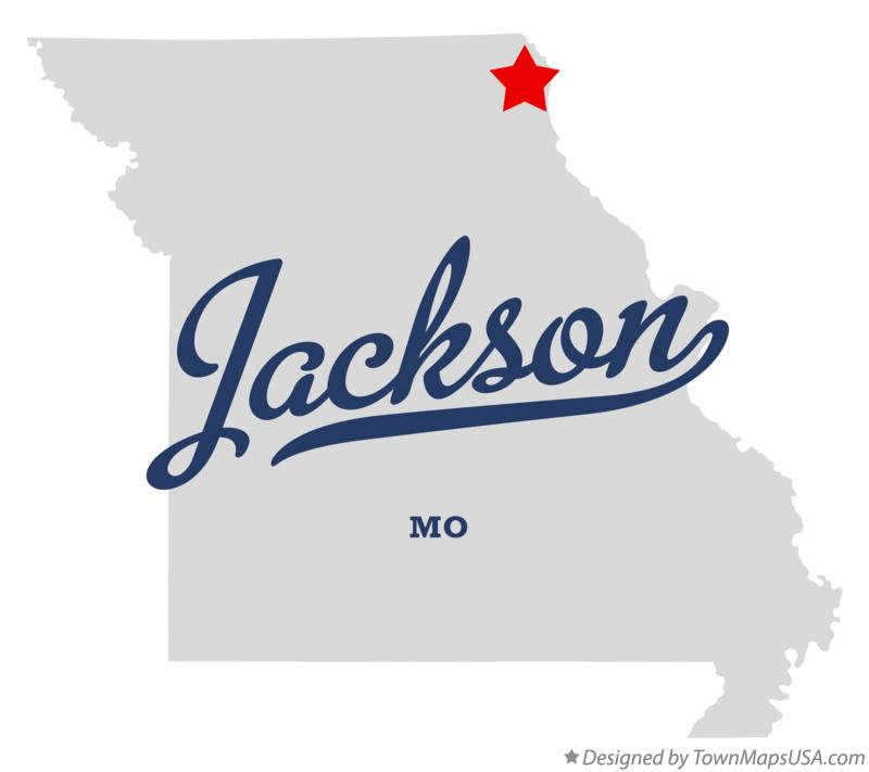 Map of Jackson Missouri MO