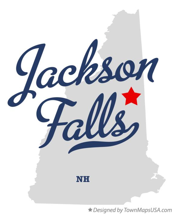 Map of Jackson Falls New Hampshire NH