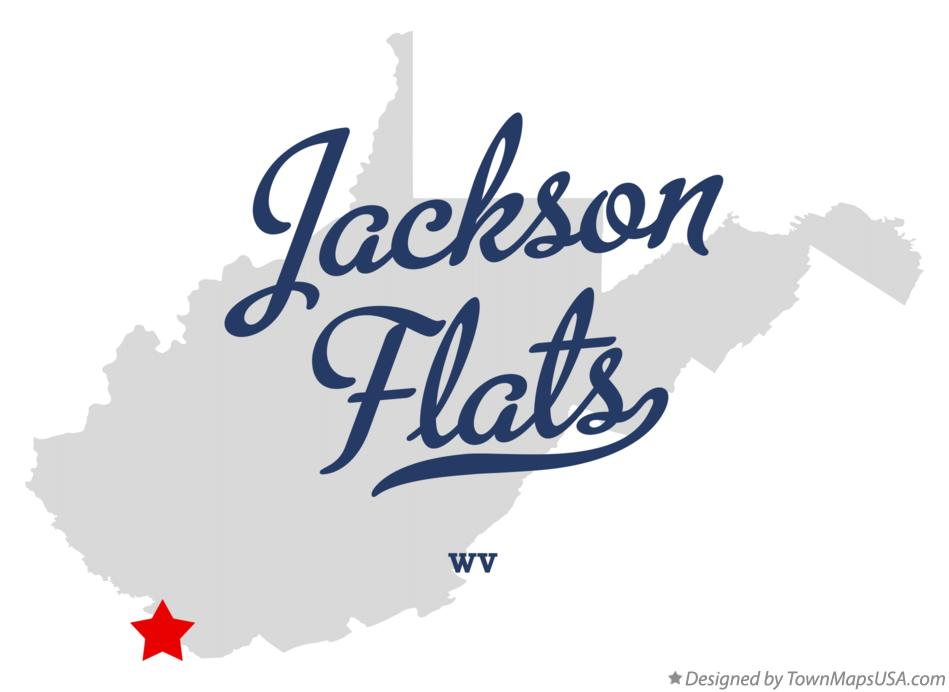 Map of Jackson Flats West Virginia WV