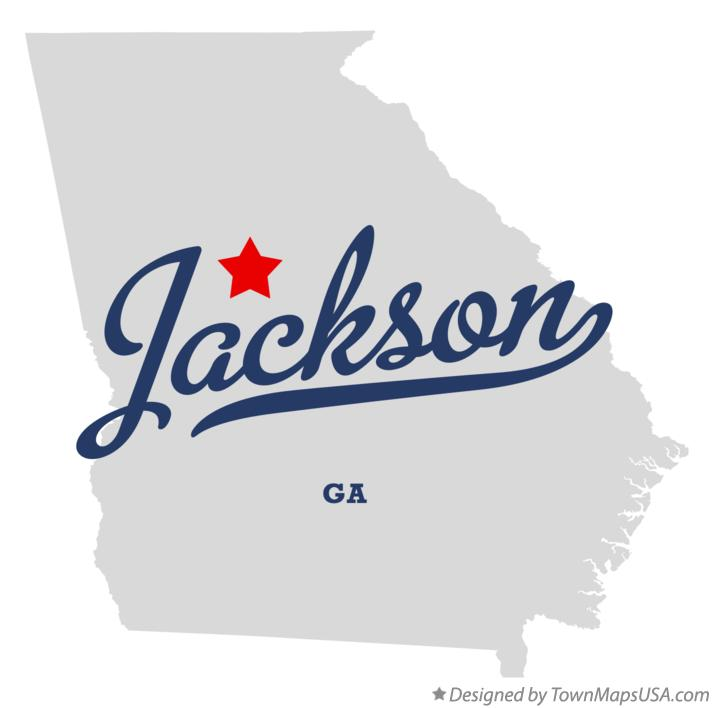 Map of Jackson Georgia GA