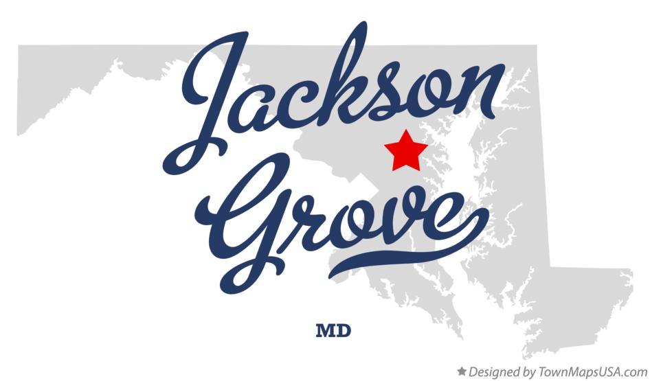 Map of Jackson Grove Maryland MD