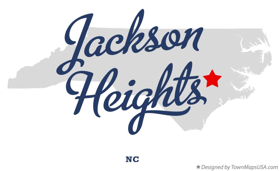 Map of Jackson Heights North Carolina NC