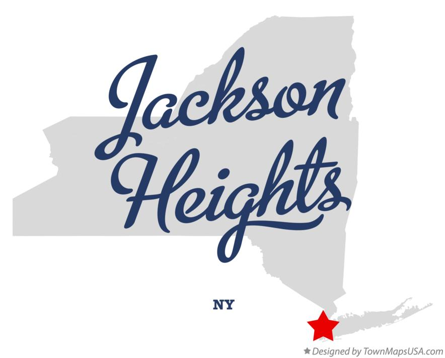 Map of Jackson Heights New York NY