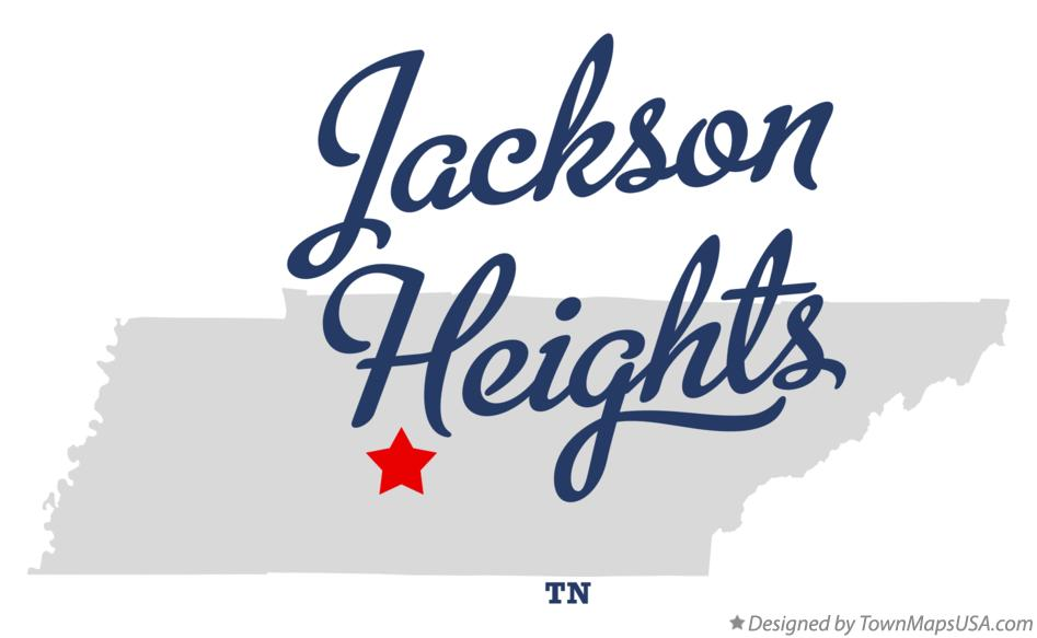 Map of Jackson Heights Tennessee TN