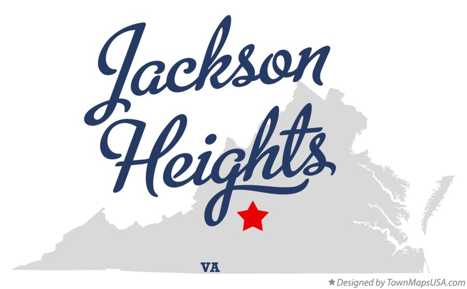 Map of Jackson Heights Virginia VA