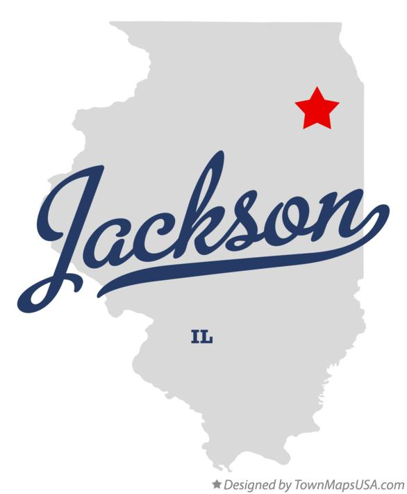 Map of Jackson Illinois IL