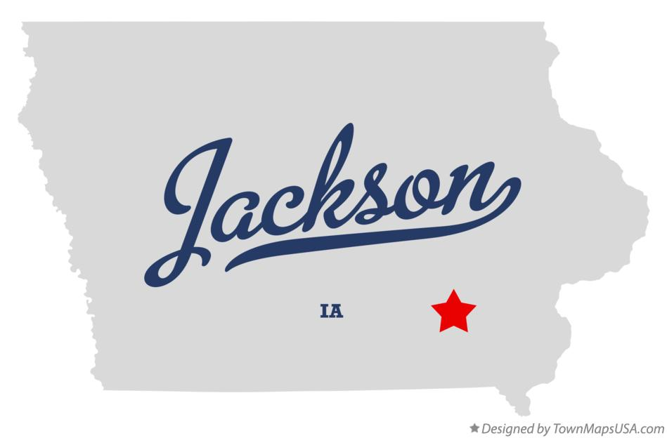 Map of Jackson Iowa IA
