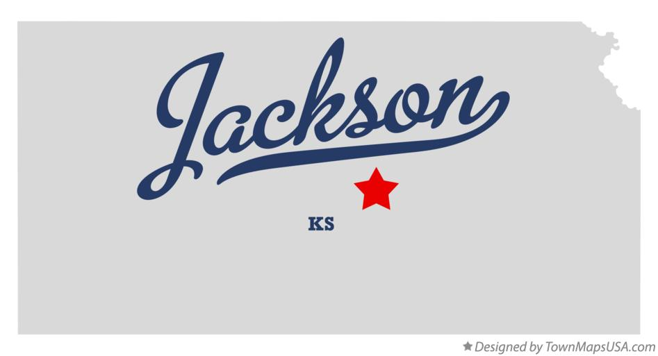 Map of Jackson Kansas KS