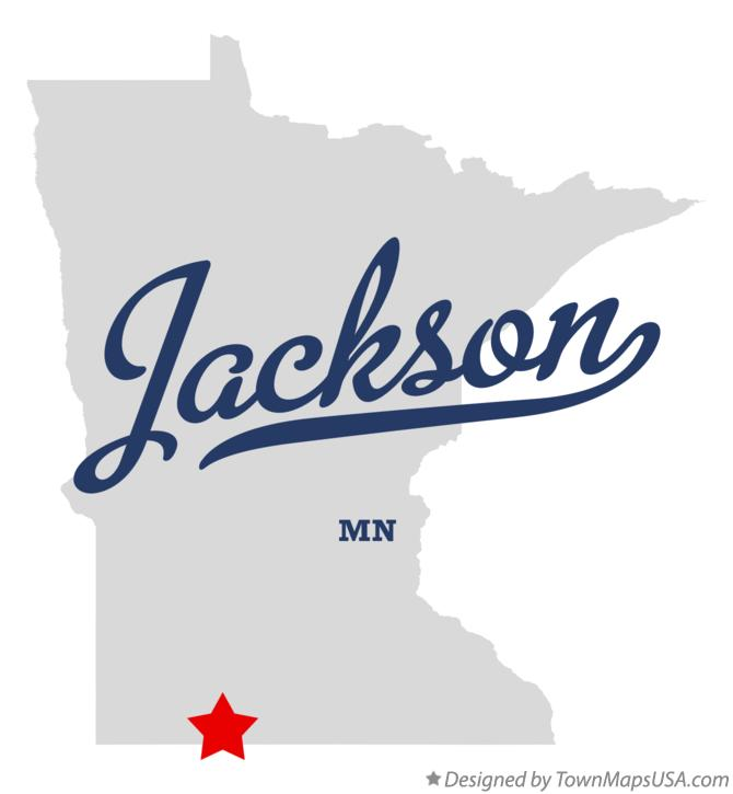 Map of Jackson Minnesota MN