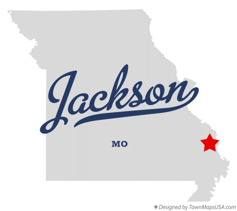 Map Of Jackson Cape Girardeau County Mo Missouri